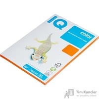 Бумага цветная для офисной техники IQ Color оранжевая OR43 (A4, 80 г/кв.м, 100 листов)