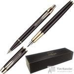 Набор письменных принадлежностей Parker IM Black GT (перьевая ручка, шариковая ручка)