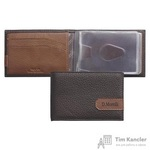 Визитница карманная Domenico Morelli Вестерн на 12 визиток из натуральной кожи коричневого цвета (DM-WZ11-KF02)