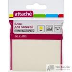 Стикеры Attache 76x76 мм пастельные желтые (1 блок, 100 листов)