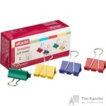 Зажимы для бумаг Attache 32 мм цветные (12 штук в упаковке)