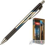 Ручка шариковая масляная автоматическая Unimax Top Tek RT Gold DC синяя (толщина линии 0.5 мм)