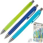 Ручка шариковая масляная автоматическая Attache Selection синяя (толщина линии 0.5 мм)