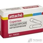 Скрепки Attache металлические овальные без покрытия 28 мм (100 штук в упаковке)