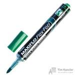 Маркер для досок Pentel Maxiflo Flex-Feel зеленый (толщина линии 1-5 мм)