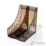 Вертикальный накопитель Attache пластиковый коричневый ширина 100 мм (2 штуки в упаковке)