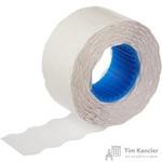 Этикет-лента волна белая 22х12 мм с сильным каучуковым клеем (12 рулонов по 1500 этикеток)