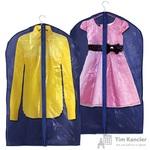 Чехол для одежды синий 90х60 см (5515)