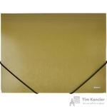 Папка на резинке Комус Шелк A4 пластиковая оливковая (0.5 мм, до 150 листов)