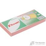 Разделитель листов Комус картонный 100 листов розовый (105x240 мм)