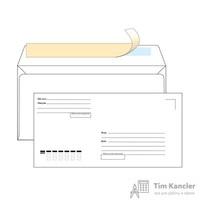 Конверт почтовый Ecopost Е65 (110x220 мм) Куда-Кому белый удаляемая лента (1000 штук в упаковке)