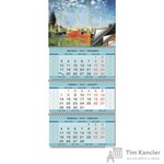 Календарь настенный трехблочный на 2019 год Импрессионизм (345x765 мм)