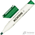 Маркер для досок Kores 20855 зеленый (толщина линии 3-5 мм)