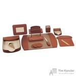 Набор настольный из искусственной кожи Attache W1034 10 предметов светло-коричневый