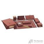 Набор настольный из искусственной кожи Attache W331 10 предметов светло-коричневый