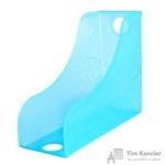 Вертикальный накопитель Attache Open-Space пластиковый синий ширина 118 мм