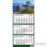 Календарь настенный трехблочный на 2019 год Горная Сосна Байкал (305х675 мм)