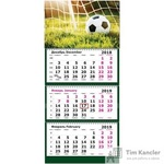 Календарь настенный трехблочный на 2019 год Футбол (305х675 мм)