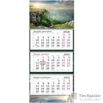 Календарь настенный трехблочный на 2019/2020 год Горы (305x710 мм)