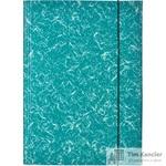Папка на резинках Attache картонная зеленая (370 г/кв.м, до 200 листов)