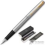 Ручка перьевая Jotter FP Stainless steel CT цвет чернил синий цвет корпуса серебристый (артикул производителя 2030948)