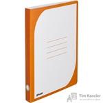 Папка-скоросшиватель Комус картонная А4 до 300 листов оранжевая (450 г/кв.м)