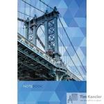 Блокнот Listoff Манхэттенский мост A5 80 листов цветной в клетку на сшивке (145x210 мм)