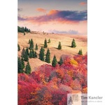 Блокнот Listoff Осенний пейзаж А5 80 листов в клетку на сшивке (145x210 мм)