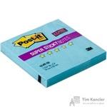 Стикеры Post-it 76x76 мм неоновые голубые (1 блок, 90 листов)