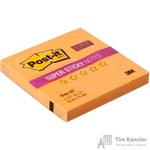 Стикеры Post-it Super Sticky 76x76 мм неоновые оранжевые (1 блок, 90 листов)