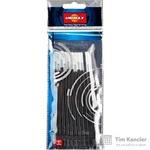 Стержень гелевый Unimax черный 131 мм (толщина линии 0.3 мм, 10 штук в упаковке)