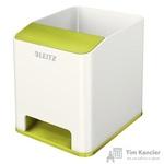Подставка для ручек и смартфона Leitz Wow белая/зеленая (с усилением звука)