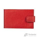 Визитница карманная на 40 визиток Attache из натуральной кожи красного цвета (V.31.ВК)