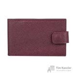 Визитница карманная на 40 визиток Attache из натуральной кожи бордового цвета (V.31.ВК)