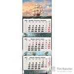 Календарь настенный трехблочный на 2019 год Парусник (340x840 мм)