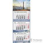 Календарь настенный трехблочный на 2019 год Старый Петербург (340x840 мм)