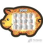 Календарь настенный на 2019 год Символ года с фигурной вырубкой на магните (145x100, 4 штуки в упаковке)
