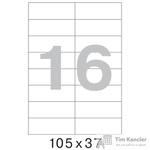 Этикетки самоклеящиеся Office Label белые 105х37 мм (16 штук на листе А4, 100 листов в упаковке)