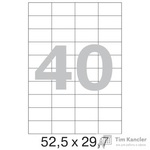 Этикетки самоклеящиеся Office Label белые 52.5х29.7 мм (40 штук на листе А4, 100 листов в упаковке)