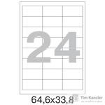 Этикетки самоклеящиеся Office Label белые 64.6х33.8 мм (24 штуки на листе А4, 100 листов в упаковке)