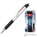 Ручка шариковая масляная автоматическая Unimax Glide Quartz синяя серый корпус (толщина линии 0.5 мм)