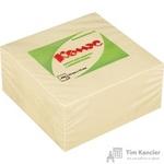 Стикеры Комус 76х76 мм пастельные желтые (1 блок, 400 листов)