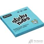 Стикеры Attache Selection 76x76 мм неоновые голубые (1 блок, 100 листов)