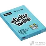 Стикеры Attache Selection 76x51 мм неоновые голубые (1 блок, 100 листов)