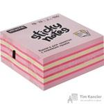 Стикеры Attache Selection 76х76 мм пастельные и неоновые 3 цвета (1 блок, 400 листов)