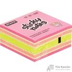 Стикеры Attache Selection Клубничный микс 76х76 мм неоновые и пастельные 4 цвета (1 блок, 400 листов)