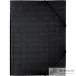 Папка-короб на резинке Attache Confidence A4 пластиковая черная (0.8 мм, до 150 листов)