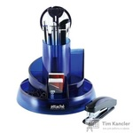 Набор настольный Attache Selection S-908 10 предметов прозрачный синий