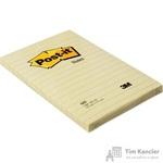Стикеры Post-it Original 102x152 мм пастельные желтые в линейку (1 блок, 100 листов)