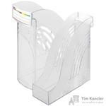 Вертикальный накопитель Attache пластиковый прозрачный ширина 95 мм (2 штуки в упаковке)